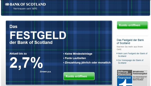 Bank of Scotland Festgeld