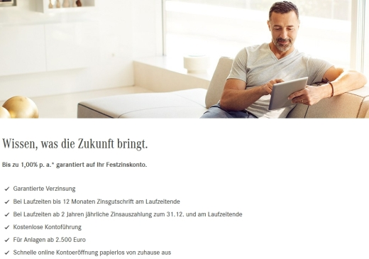 Mercedes-Benz Bank Festgeld